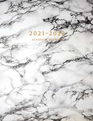 2021-2022 Academic Planner: Large Weekly and Monthly Planner with Inspirational Quotes and Marble Cover Volume 1 (July 2021 - June 2022) Cover Image