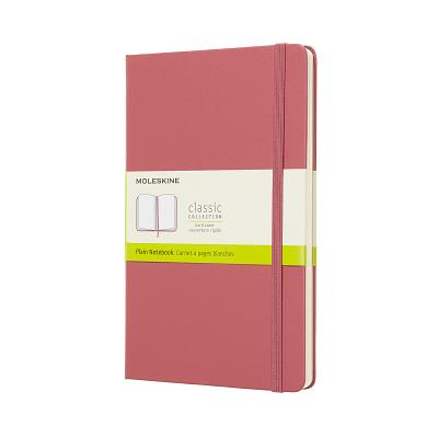 Moleskine Classic Notebook, Large, Plain, Pink Daisy, Hard Cover (5 x 8.25) Cover Image