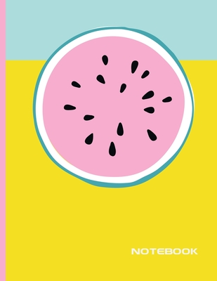 Notebook: Lined Notebook Journal - Stylish Watermelon - 120 Pages - Large 8.5 x 11 inches - Composition Book Paper - Minimalist Cover Image