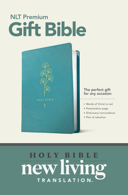 Premium Gift Bible NLT (Red Letter, Leatherlike, Teal) Cover Image