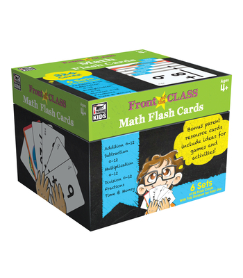 Math Flash Cards, Ages 4 - 8 (Front of the Class) Cover Image