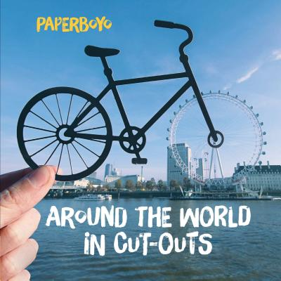 Around the World in Cut-Outs: (Books About Cities, Books About Geography) Cover Image