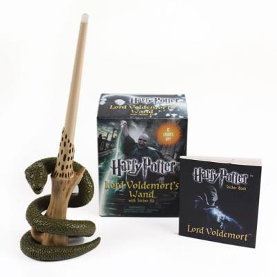 Harry Potter Voldemort's Wand with Sticker Kit: Lights Up! (Miniature Editions) Cover Image