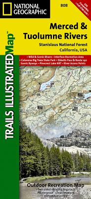 Merced and Tuolumne Rivers [Stanislaus National Forest] (National Geographic Trails Illustrated Map #808) Cover Image