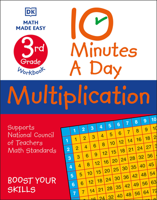 10 Minutes A Day Multiplication, 3rd Grade Cover Image