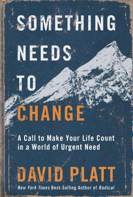 Something Needs to Change: A Call to Make Your Life Count in a World of Urgent Need Cover Image