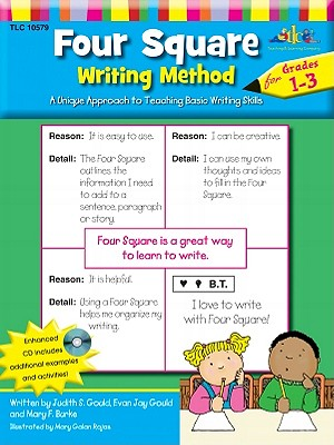 Four Square: Writing Method Grades 1-3 W/Enhanced CD: A Unique Approach to Teaching Basic Writing Skills Cover Image