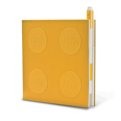 Lego 2.0 Locking Notebook with Gel Pen - Yellow Cover Image