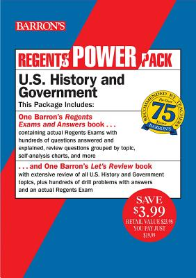 Regents U.S. History and Government Power Pack: Let's Review U.S. History and Government + Regents Exams and Answers: U.S. History and Government (Barron's Regents NY) Cover Image