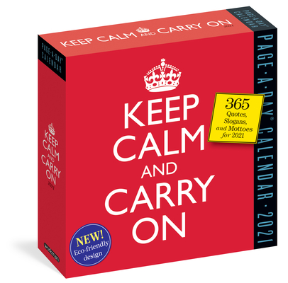 Keep Calm and Carry on Page-A-Day Calendar 2021 Cover Image