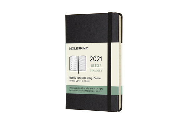 Moleskine 2021 Weekly Planner, 12M, Pocket, Black, Hard Cover (3.5 x 5.5) Cover Image