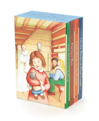 Little House 4-Book Box Set: Little House in the Big Woods, Farmer Boy, Little House on the Prairie, On the Banks of Plum Creek Cover Image
