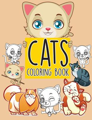 Cats pattern doodles; Easy coloring book for kids toddler, Imagination learning in school and home: Kids coloring book helping brain function, creativ Cover Image
