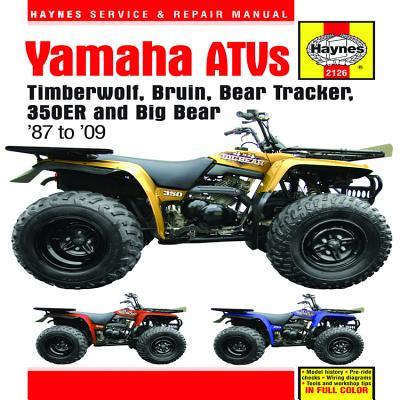 Yamaha ATVs Timberwolf, Bruin, Bear Tracker, 350ER and Big Bear: 1987 to 2009 (Haynes Service & Repair Manual) Cover Image