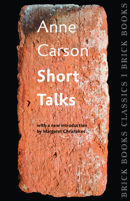 Short Talks: Brick Books Classics 1 Cover Image