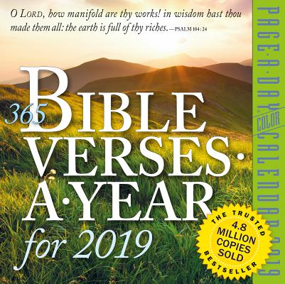 365 Bible Verses-A-Year Page-A-Day Calendar 2019 Cover Image