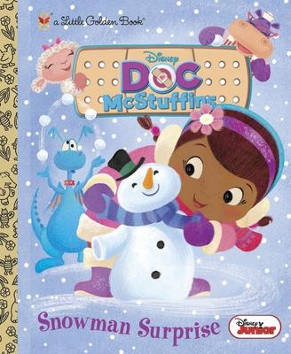 Snowman Surprise (Disney Junior: Doc McStuffins) (Little Golden Book) Cover Image
