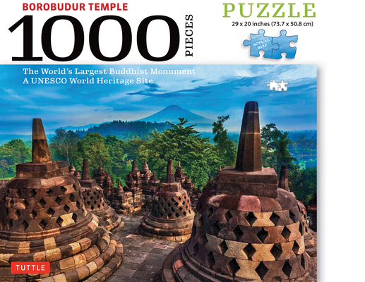 Borobudur Temple, Indonesia - 1000 Piece Jigsaw Puzzle: The World's Largest Buddhist Monument, a UNESCO World Heritage Site (Finished Size 29 In. X 20 Cover Image