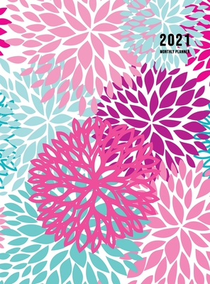 2021 Monthly Planner: 2021 Planner Monthly 8.5 x 11 with Beautiful Coloring Pages (Volume 3 Hardcover) Cover Image