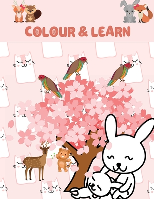 Colour & Learn: Animals Children's Educational Colouring Book, 8.5 by 11 inch Kids Animal Activity Book Learn & Teach Cover Image