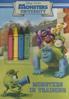 Monsters University: Monsters in Training [With Crayons] Cover Image