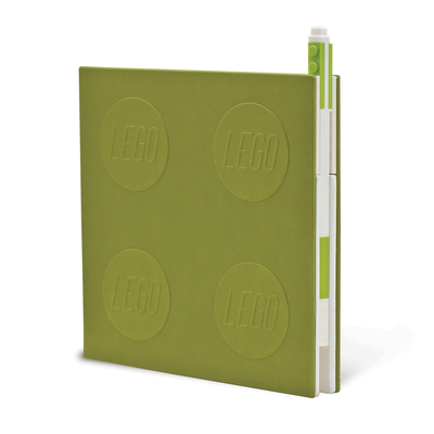 Lego 2.0 Locking Notebook with Gel Pen - Lime Cover Image