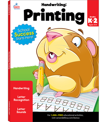 Handwriting: Printing Workbook Cover Image