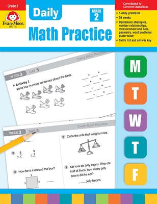 Daily Math Practice, Grade 2 Cover Image