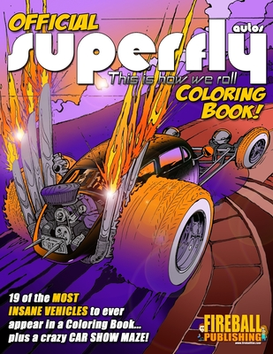 Official SUPERFLY AUTOS Coloring Book Cover Image