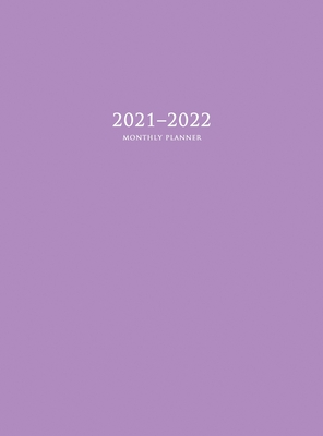2021-2022 Monthly Planner: Large Two Year Planner with Purple Cover (Hardcover) Cover Image