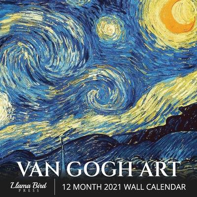 Van Gogh Art 2021 Wall Calendar: Famous Art, 8.5
