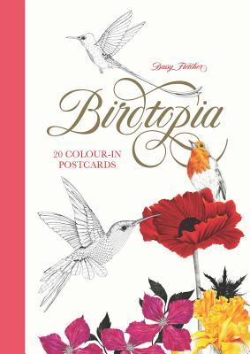Birdtopia: 20 Color-in Postcards Cover Image