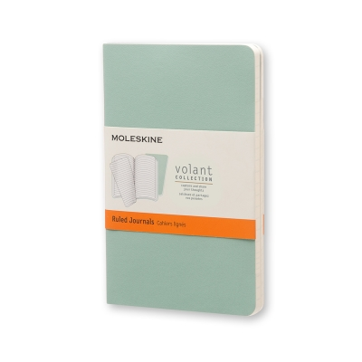 Moleskine Volant Journal (Set of 2), Pocket, Ruled, Sage Green, Seaweed Green, Soft Cover (3.5 x 5.5) Cover Image
