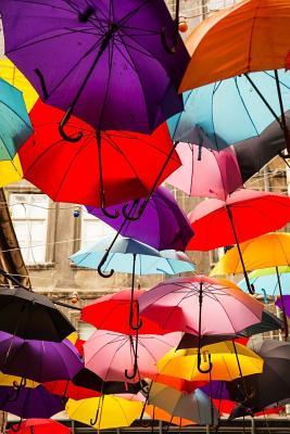 Umbrellas Notebook Cover Image