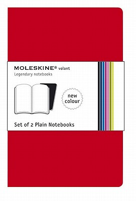 Moleskine Volant Notebook (Set of 2 ), Extra Small, Plain, Red (2.5 x 4) (Volant Notebooks) Cover Image