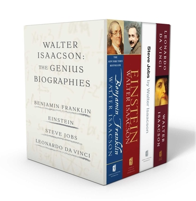 Walter Isaacson: The Genius Biographies: Benjamin Franklin, Einstein, Steve Jobs, and Leonardo da Vinci Cover Image