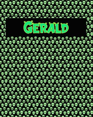 120 Page Handwriting Practice Book with Green Alien Cover Gerald: Primary Grades Handwriting Book Cover Image