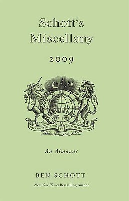Schott's Miscellany 2009: An Almanac Cover Image