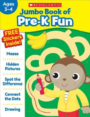 Jumbo Book of Pre-K Fun Workbook Cover Image