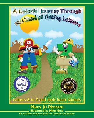 A Colorful Journey Through the Land of Talking Letters Cover