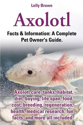 Axolotl. Axolotl Care, Tanks, Habitat, Diet, Buying, Life Span, Food, Cost, Breeding, Regeneration, Health, Medical Research, Fun Facts, and More All Cover Image