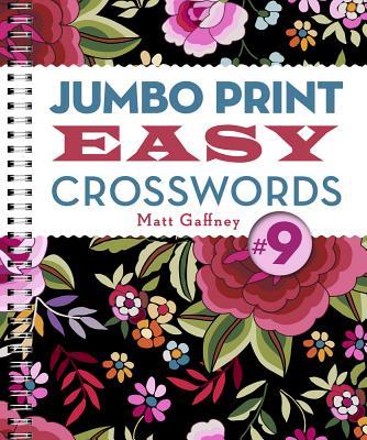 Cover for Jumbo Print Easy Crosswords #9 (Large Print Crosswords)