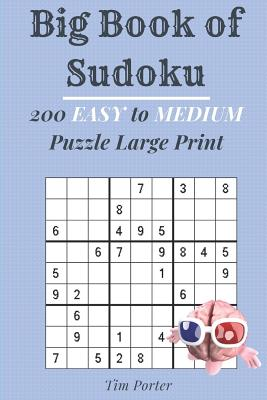 Big Book of Sudoku: 200 Easy to Medium Puzzle Large Print (Brain Games) Cover Image