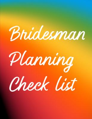 Bridesman Planning Checklist: Man of Honor Things To Do: Prompted Fill In Organizer for Man of Honor for Notes, Reminders, Lists, Things to do, Impo Cover Image