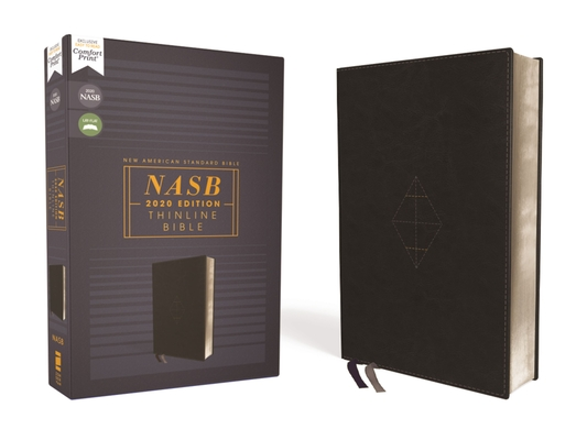Nasb, Thinline Bible, Leathersoft, Black, Red Letter Edition, 2020 Text, Comfort Print Cover Image