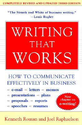 Writing That Works, 3rd Edition: How to Communicate Effectively in Business Cover Image