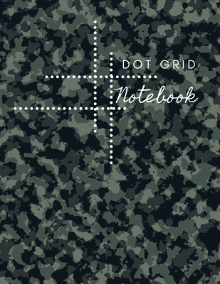 Dot Grid Notebook: Army Design Dotted Notebook/JournalLarge (8.5 x 11) Dot Grid Composition Notebook Cover Image