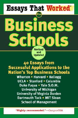 Essays That Worked for Business Schools Cover