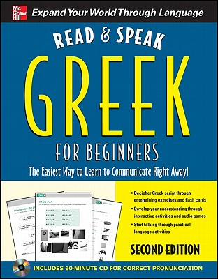Read and Speak Greek for Beginners with Audio CD, 2nd Edition [With CD] (Read & Speak for Beginners) Cover Image