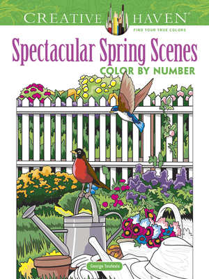 Creative Haven Spectacular Spring Scenes Color by Number (Creative Haven Coloring Books) Cover Image
